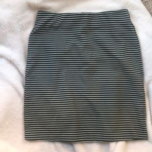 Old navy olive and white stripe skirt